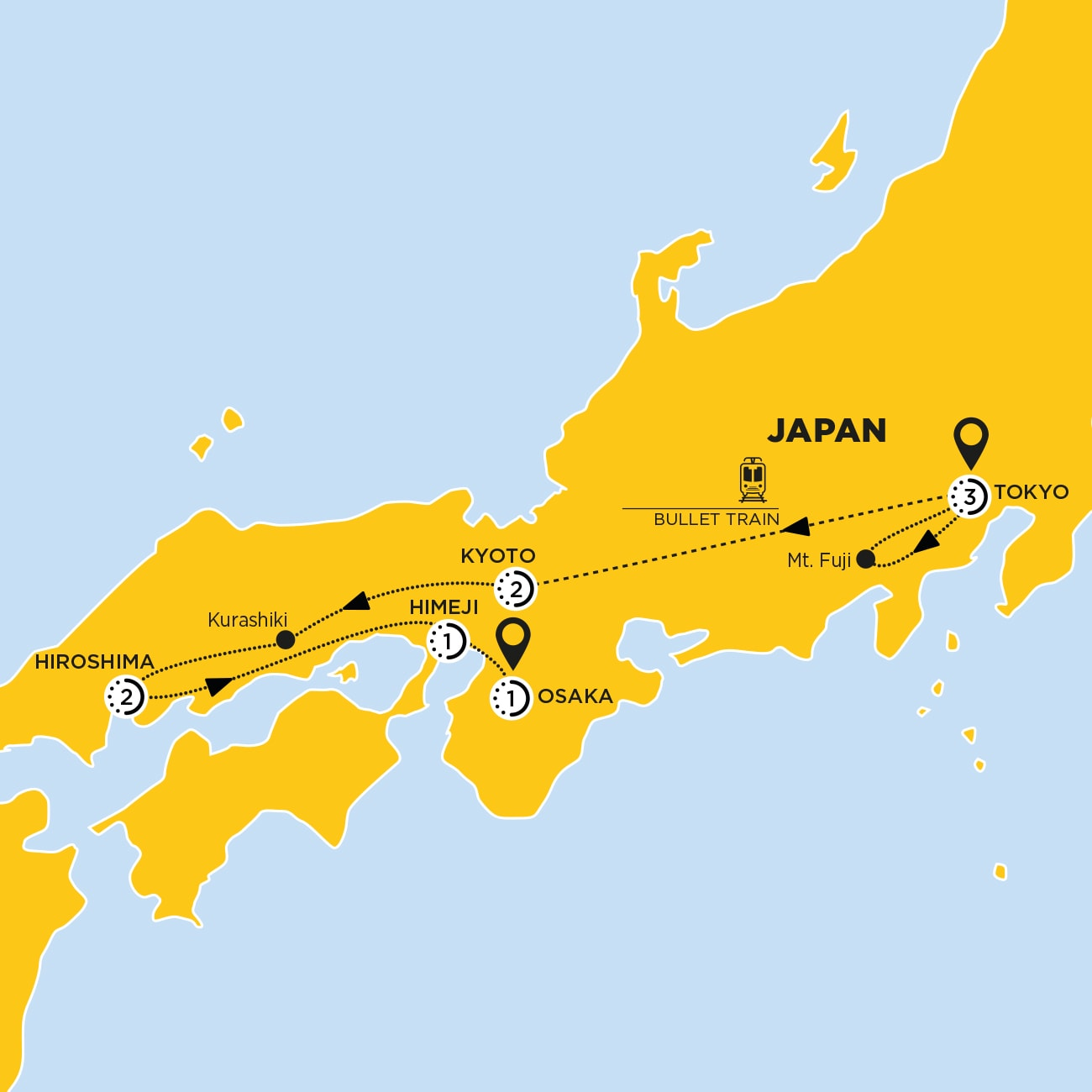 Japan Discovery Map