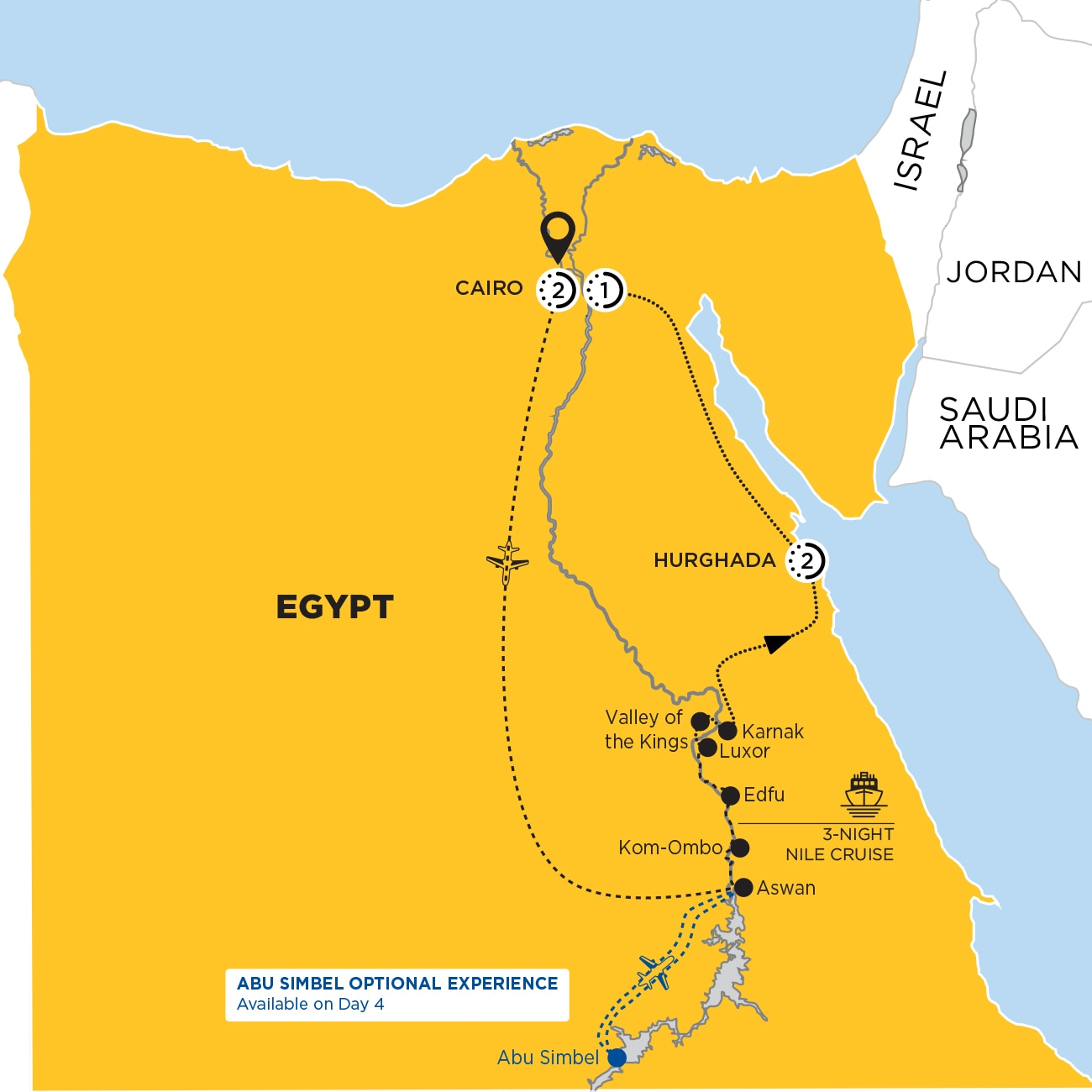 Footsteps of the Pharaohs Map