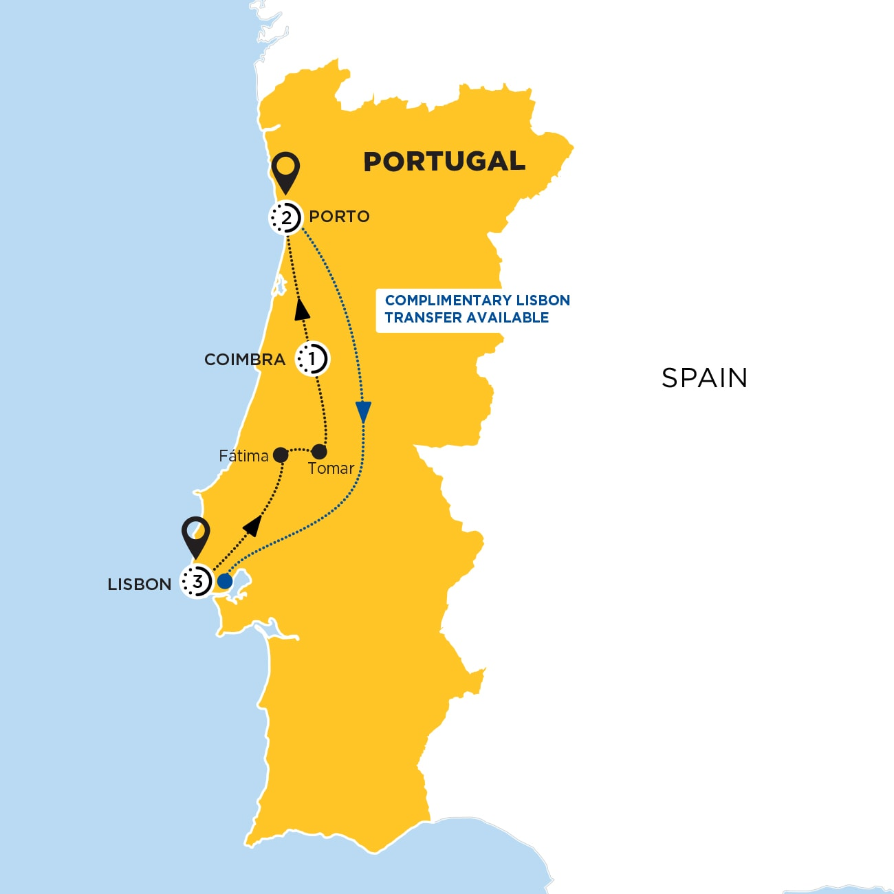 Picturesque Portugal Map