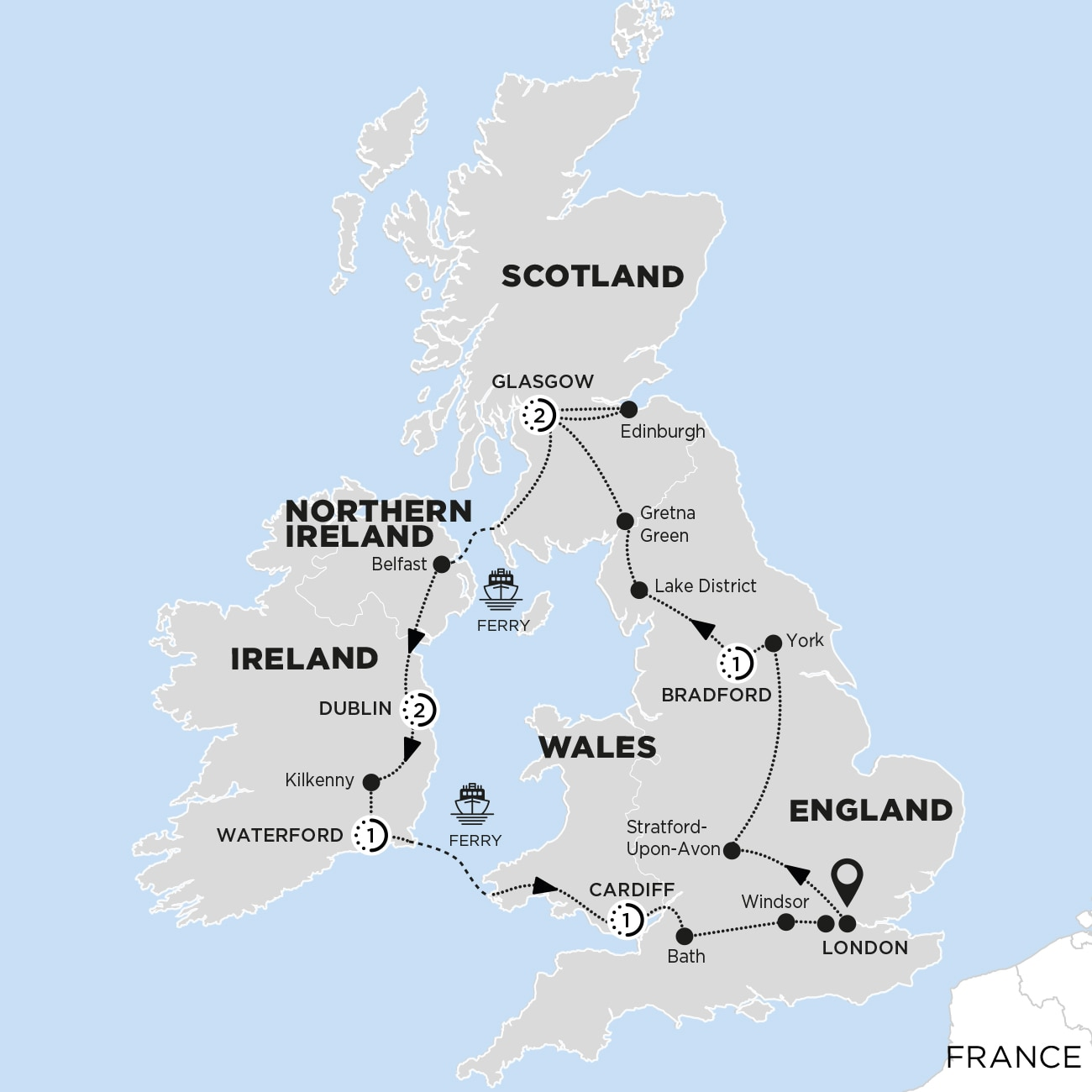 Britain and Ireland Delight Map