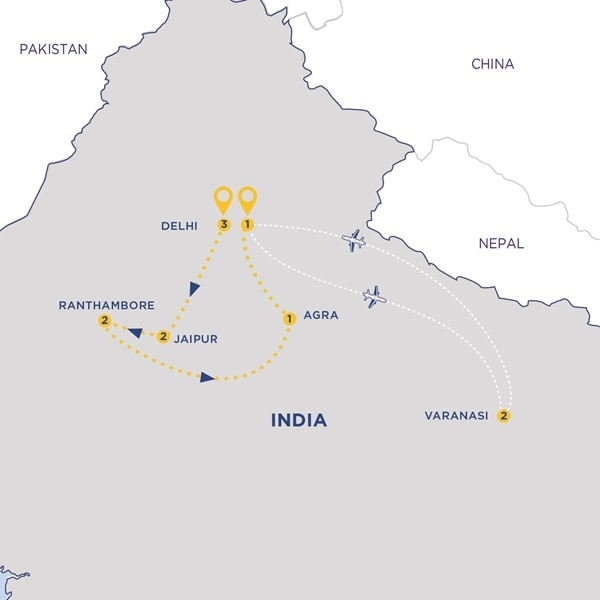 Golden Triangle and the Ganges