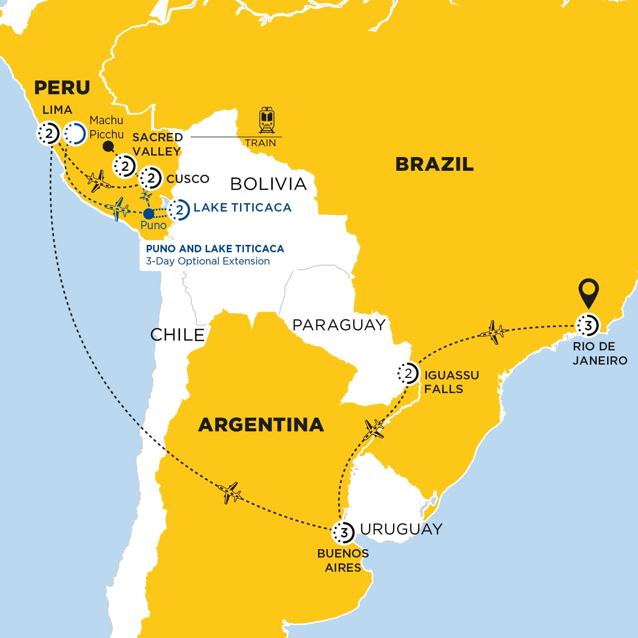 South America Discovery Map
